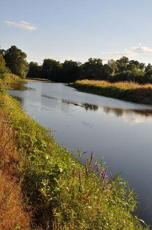 anjou: Louet river in Anjou