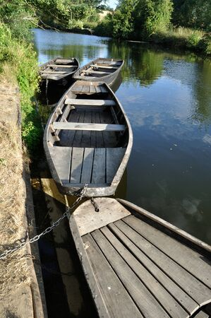 punter: boat on a river Stock Photo
