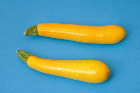 courgettes: Yellow courgettes on blue background