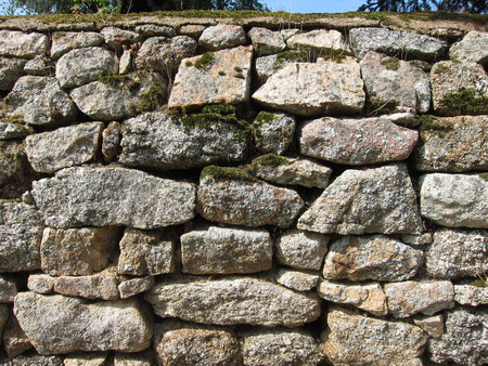 solid: Solid wall made of stone Stock Photo