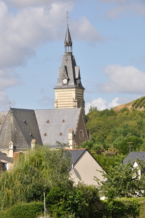 viniculture: Saint-Aubin de Luign  Coteaux du Layon  Church