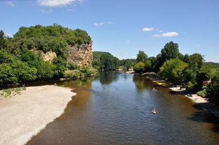 bather: Dordogne river
