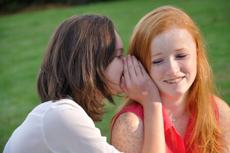 complicity: Complicity between two teens Stock Photo