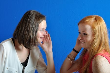 Complicity between two teens photo