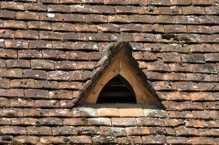 Part of a roof with dormer Stock Photo