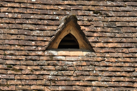 Part of a roof with dormer Stockfoto