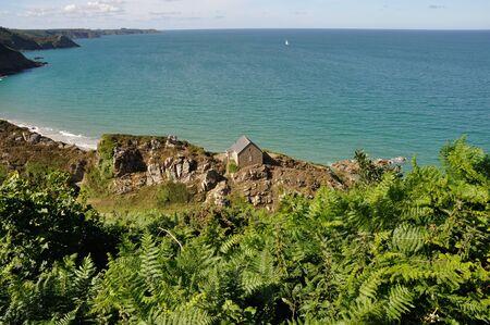 The Brittany coast in Plouha Stock Photo