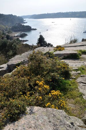 The Brittany coast in Loguivy Stock Photo