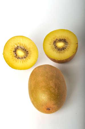 Kiwi gold on a white background 版權商用圖片