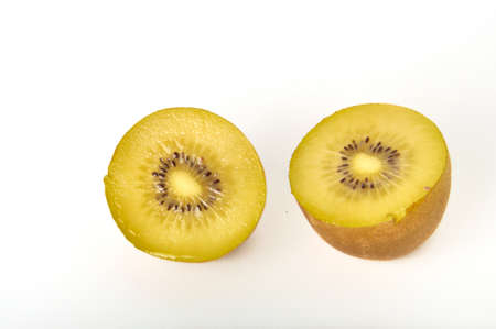 Kiwi gold on a white background Reklamní fotografie
