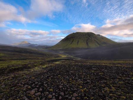 raw lava field at Landmannalaugar, Iceland