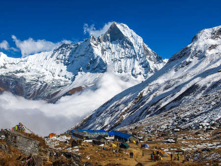 Mount Machhapuchhre and Annapurna base camp, Nepal