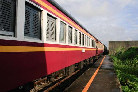 suburban: Suburban trains in Thailand, rural train