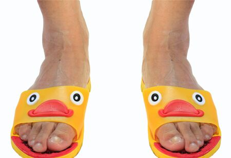 duck feet: duck slippers and feet