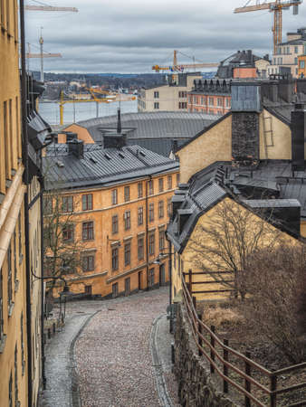 A beautiful view from the streets of Stockholm. Imagens