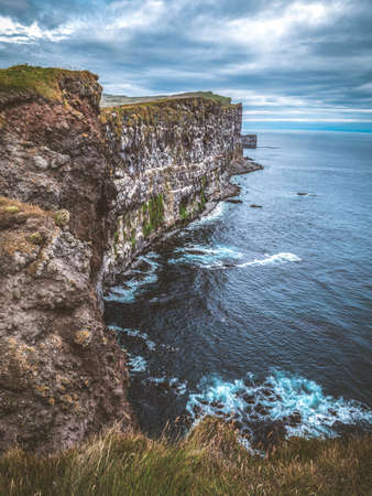 Image of East top of Europe - cliffs on Latrabjarg, Iceland. Imagens