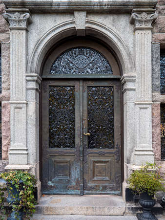 Picture of Metallic entrance door to the vintage building
