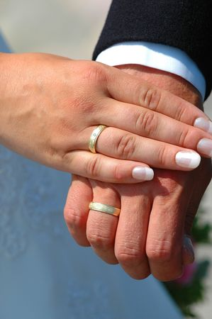 marrage: Hands and Wedding rings