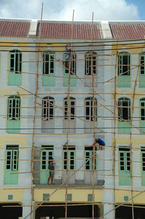 Men painting house Stock Photo - 544760