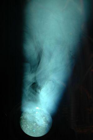 hot spot: Light and smoke Stock Photo