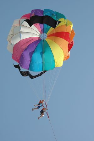 paraglide: People parasailing