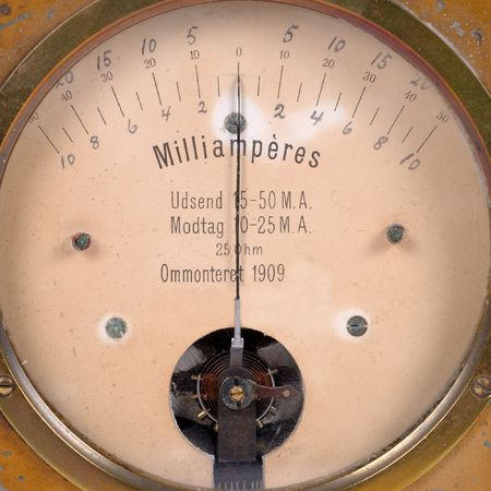 A very old amperemeter from 1909. Stock Photo - 691571