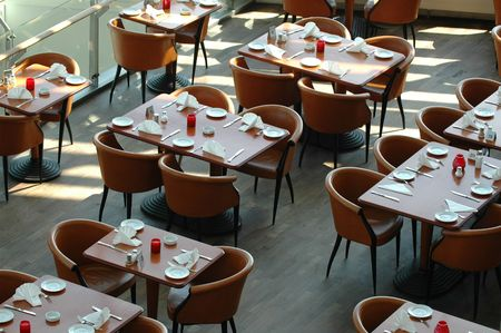 resturant: Tables in a resturant.