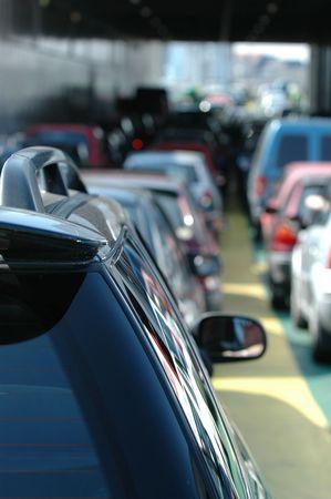 motor de carro: Autos de espera en el tr�fico.