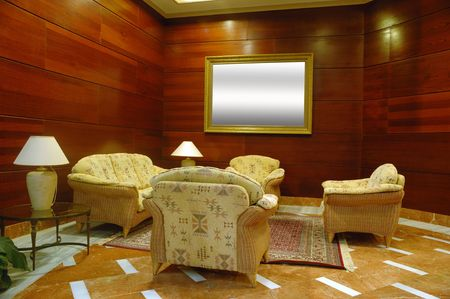 The environment of lobby in a hotel photo