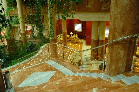 Stairs to hotel lobby. photo