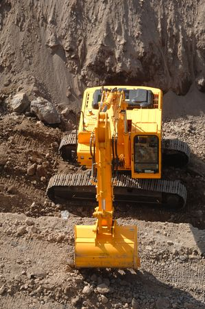 Excavator working at a conctuction site Stock Photo - 969500