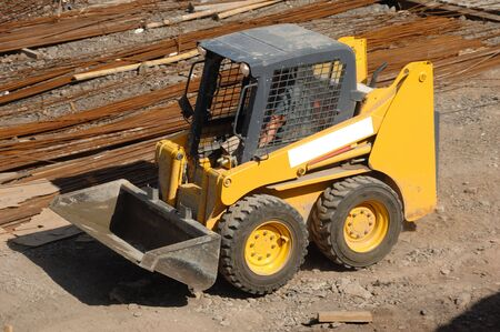 Small compact yellow eath mover Stock Photo - 969501