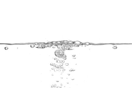 Bubbles and water on clean white background photo