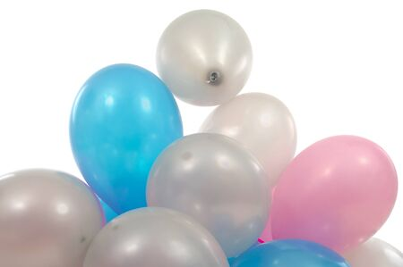 A pile of balloons on white background Stock Photo - 1584631
