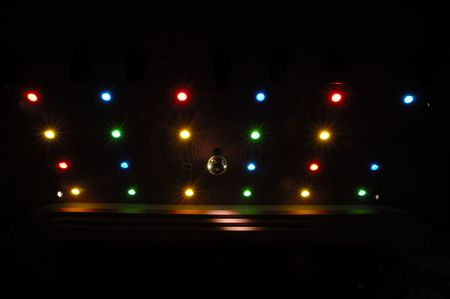 Disco lights with many different colors