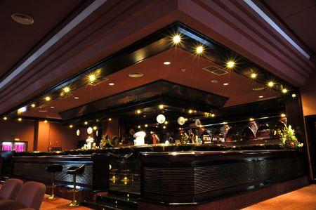 bar stool: Bar at a trendy nichtclub Stock Photo