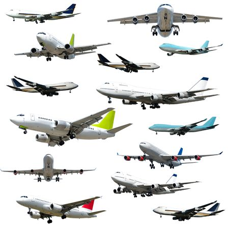 Collection with many planes on a clean white background. 5000 x 5000 pixels