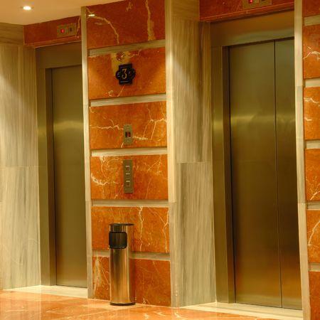 Elevator doors in hotel photo