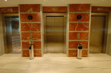 Elevator doors in modern hotel Stock Photo - 2707129