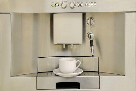 Modern coffee machine Stock Photo