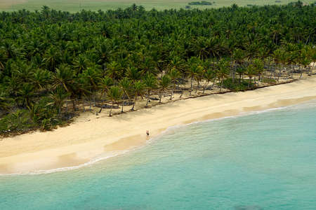 Empty beach seen from above. The dominican republic. Stock Photo - 9108265