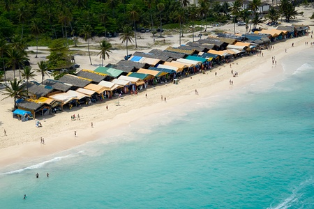 dominican republic: Market on exotic beach Stock Photo