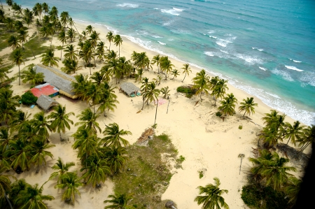 Empty beach seen from above  The dominican republic  photo