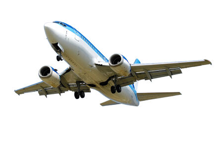 Plane is isolated on white