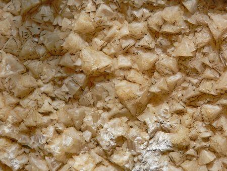quartzite: A macrocloseup of some quartzite crystals.