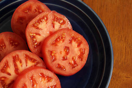 lycopene: Round slices of tomato