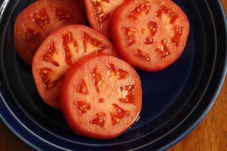 lycopene: Round slices of tomato