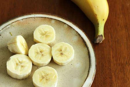 Bananas were cut smaller peeled photo
