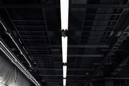 bare wire: Ceiling under construction