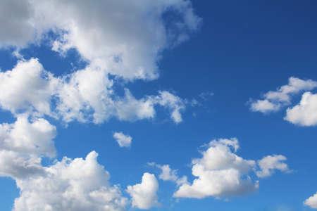 ultramarine blue: Blue sky and clouds